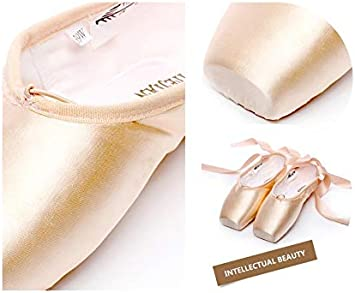 Pointe Straps Exercise Satin Canvas Silicone Sponge For Girls Women Ruanyi Profession Pink Ballet Shoes