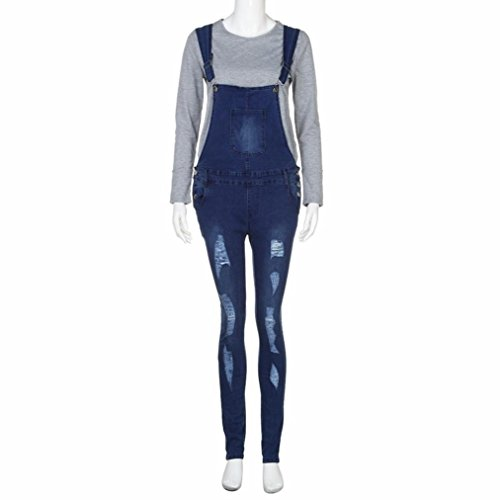 Jeans Pants Ladies Girls Deep Teen Hole Momola Slim Skinny Jumpsuit Trousers Ripped Rompers Denim Women Blue Pencil Overalls Casual T8axS8g
