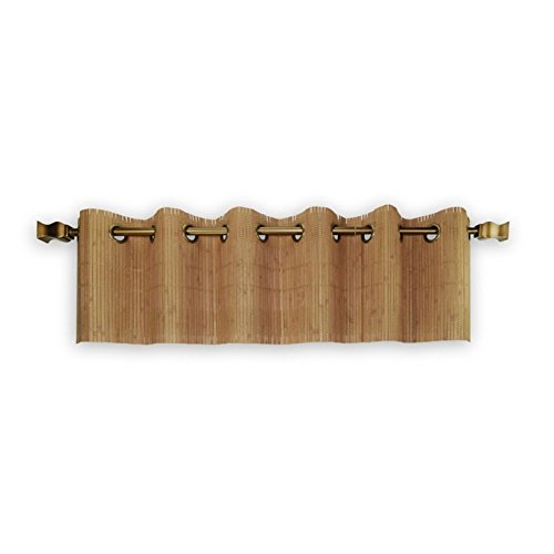Pemberly Row Bamboo Wood Valance with Grommets in Teak by PEMBERLY ROW