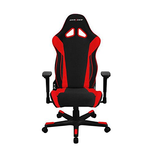DXRacer OH/RW106/NR Black & Red Racing Series Gaming Chair High-back Ergonomic Home Office Adjustable Swivel Racing eSports Computer Chair with Lumbar Cushion and Headrest Pillow by DX Racer