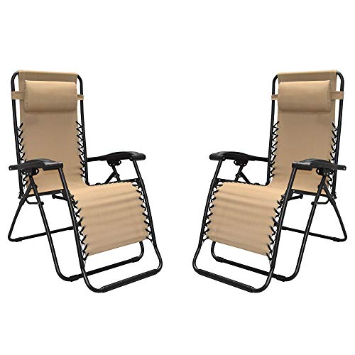 Caravan Sports - Two Pieces Infinity Zero Gravity Chair, Bei