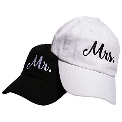 Embroidered Groom Hat - Matching Mr and Mrs Hats - Bride and Groom Embroidered Baseball Caps for Honeymoon