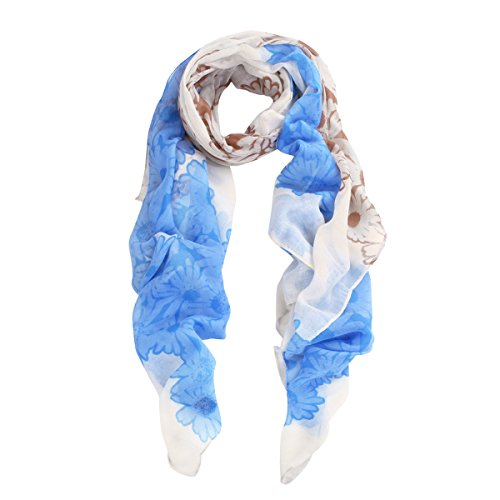 Premium Daisy Floral Scarf Wrap - Different Colors Available