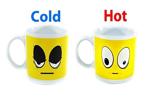 Coffee Mug - Yellow Wake Up Color Changing Heat Sensitive Ce