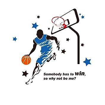 LXHLXN Jugar Baloncesto Etiqueta de la Pared Creativo NBA ...