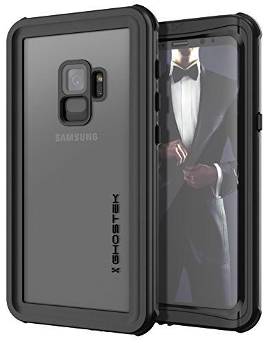 Case Black Shield Protector Rubberized (Ghostek NAUTICAL Heavy Duty Waterproof Case Compatible with Galaxy S9 - Black)