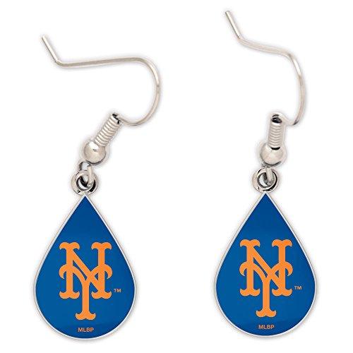 WinCraft MLB New York Mets Tear Drop Earrings, Large, (New York Mets Jewelry)