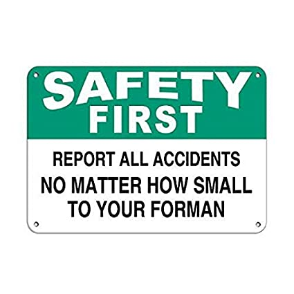 Amazon Com Ugtell Personalized Metal Signs For Outdoors Safety