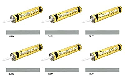 (Pack of 6) Tremco 45SSL Vulkem Polyurethane Semi-Self Leveling Sealant, Gray