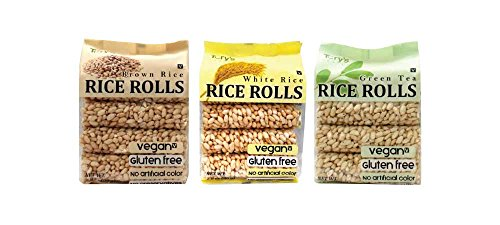Rice Crunch Roll Combo White Rice, Brown Rice, Green Tea 2.8 ounce (Pack of 12) (Rice Rollers compare prices)