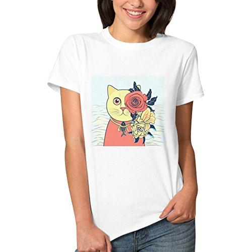 iBaste Mujer T Shirt De Moda De Diseño Simple Camisa De Manga Corta Cuello Redondo