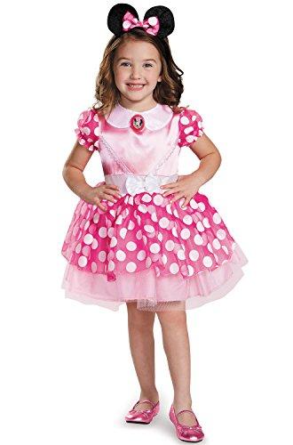 Pink Minnie Mouse Girls Costumes (Pink Minnie Classic Tutu Costume, X-Small (3T-4T))
