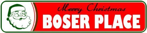 boser-place-personalized-lastname-merry-christmas-santa-novelty-sign-3x12-metal-sign