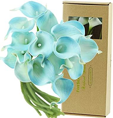 Fiveseasonstuff Real Touch Calla Lilies Artificial Flowers Wedding