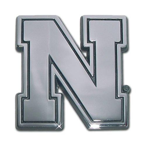 Nebraska Cornhuskers Premier Chrome Metal Iron N Auto Emblem