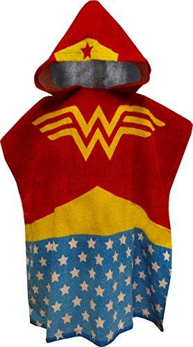 Wonder Woman Bath Towel Pool/Beach Hooded Poncho Robe for girls