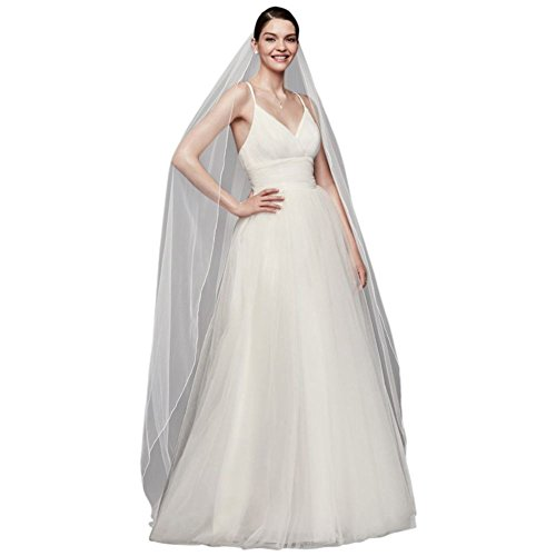 Chapel Length Veil with Pencil Edge Style 669, Champagne (Pencil Edge)