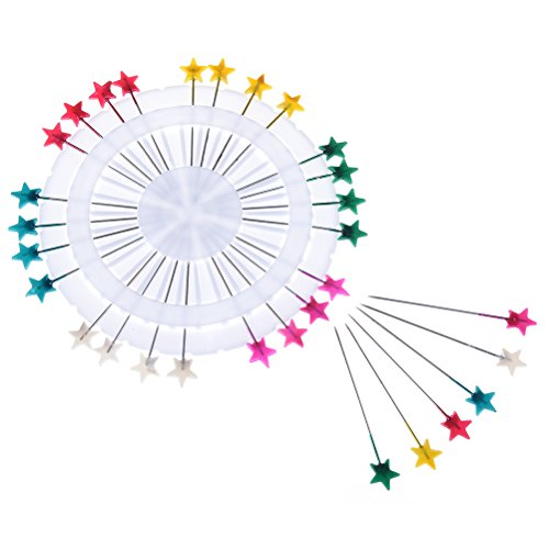 SuxiDi 30 Pins Headed Pin Wheel,Craft Pin Wheel Dressmaking Hijab Scarf Tailor Multi-Color