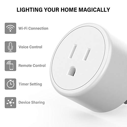 Alexa Smart Plugs – Aoycocr Mini WIFI Smart Socket Switch Works With Alexa Echo Google Home, Remote Control Smart Outlet…