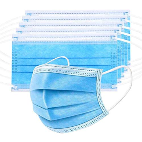 Obestseller Disposable 3 Ply Supplies - With Nanofiber Filter Lining, Student Start School Necessities (One Size, Blue 10Pcs)