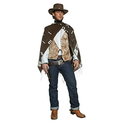 Tftw Cowboy Costume Adult Clint Eastwood Poncho Wild West Gunslinger Fancy Dress