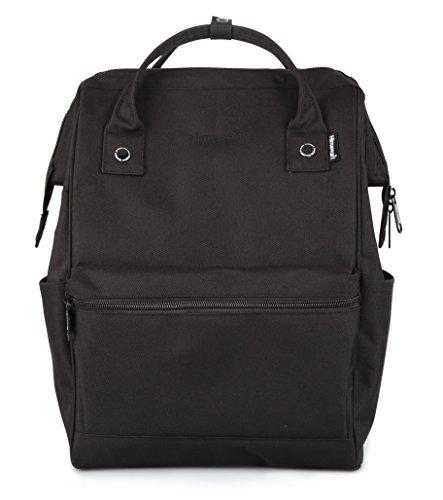 Himawari Travel Backpack Laptop Backpack Large Diaper Bag School Backpack for Women&Men (Dark black)