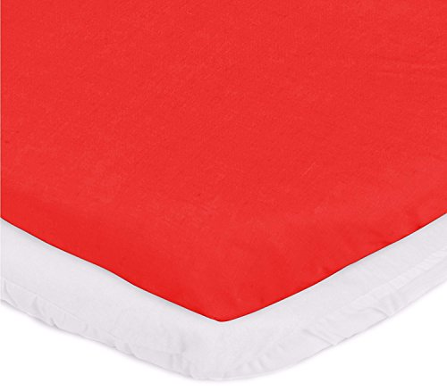 aBaby Cradle Mattress Protector and Sheet Combo, Red, 18'' x 36'' by Ababy