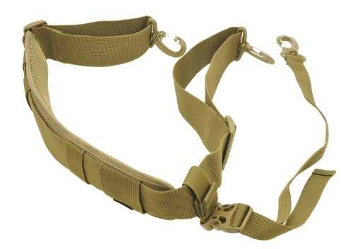 HAZARD 4 Deluxe Padded Shoulder Strap with Stabilizer Strap, Coyote