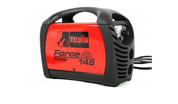 Soldador inverter Force 145 + Accesorios + Maleta Plast.- Telwin - COD.815856: Amazon.es: Bricolaje y herramientas