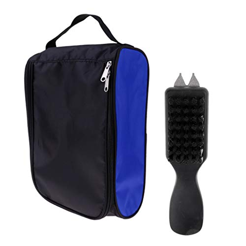 (Culturemart Golf Shoe Brush Cleaning Bristles Groove Cleaner & Shoes Carry Bag Pouch)