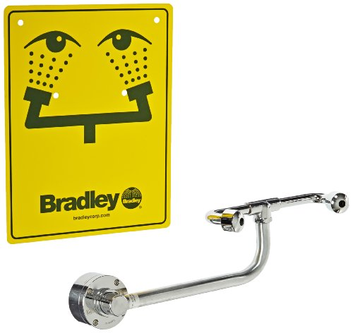 Bradley S19-270C Swing Activated Safety Eye/Face Wash Unit, Cabinet Mount, 0.4 GPM Water Flow , 12