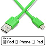 Aduro USB Charge & Sync Cable for Apple Devices, 10 Feet - Green