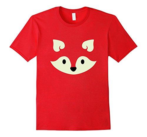 Mens Fox Halloween Costume Shirt Cute Funny for Women Men Kids Medium Red