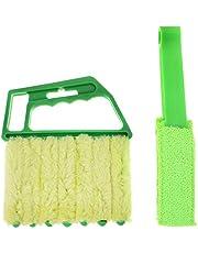 Toyvian 2Pcs Venster Blind Cleaner Duster Borstel Air Vent Borstel Blind Cleaner Gereedschap Voor Jaloezieën Luiken Schaduw Airconditioner Jalousie Stof
