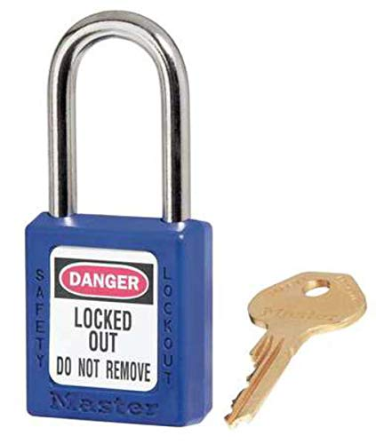 Master Lock 410BLU Zenex Thermoplastic SAFETY Padlock, Capacity, Volume, Plastic, Standard, Blue