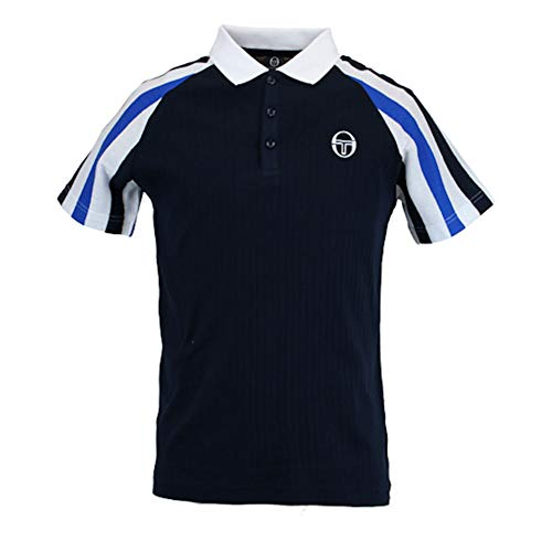 (Sergio Tacchini Mens Blow Polo Shirt Navy S)