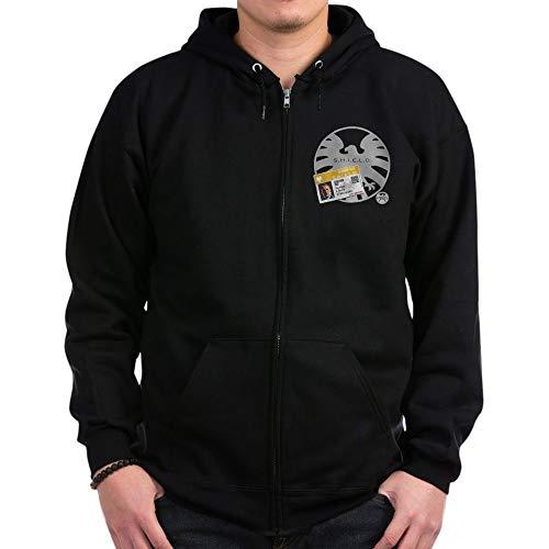 CafePress Agents of Shield Badge Zip Hoodie, Classic Hooded Sweatshirt with Metal Zipper Black