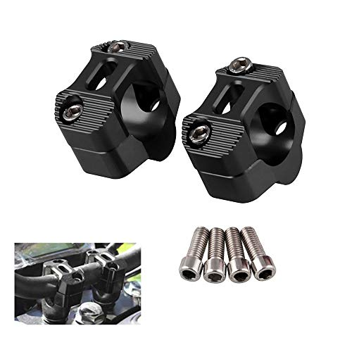 CYSKY Riser Universele stuurklem voor op de motorfiets, 1 1/8 inch, 28 mm, geschikt voor de meeste motorfietsen…