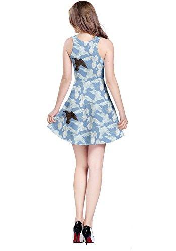 Dress Light Woods Womens Sleeveless Pattern Ravens Halloween Blue 2 CowCow RfqwpFaYR