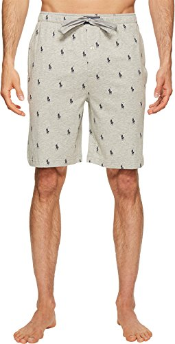 - Polo Ralph Lauren Men's Knit Sleep Shorts Andover Heather/Cruise Navy Aopp Large
