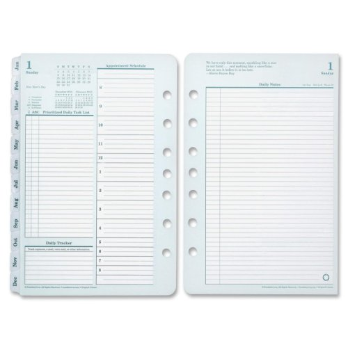 FranklinCovey Original Dated Daily Planner Refill, January - December,8-1/2 x 11 Inches (3542711)