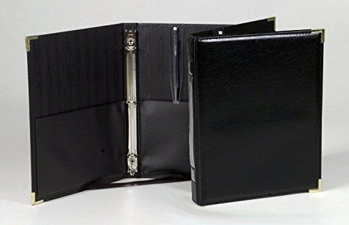 Marlo Plastics Premium Concert Choral Folder 9-1/4 x 12 with 3-ring binder - Black (Original - Ribbon Original Black