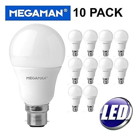 10bombillas Megaman LED 143318 de 9,5W, con tono blanco