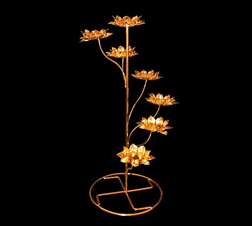 Shihua Birthday Flower Light Cup Ghee Lamp Holder Candle Holder Tibetan Brass Butter Copper Lotus holder Oil Lamp Buddhist Supplies