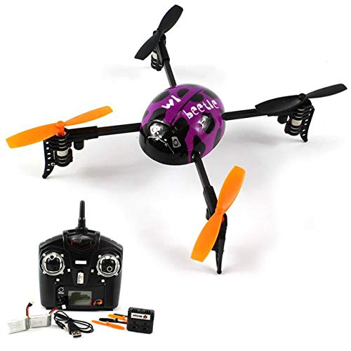 ZAMTAC 1Piece Mini Helicopter V939 Beetle Shaped Ladybird 4CH RC 2.4Ghz 4-axis Aircraft Quad XCopter Quadcopter - (Color: Purple)