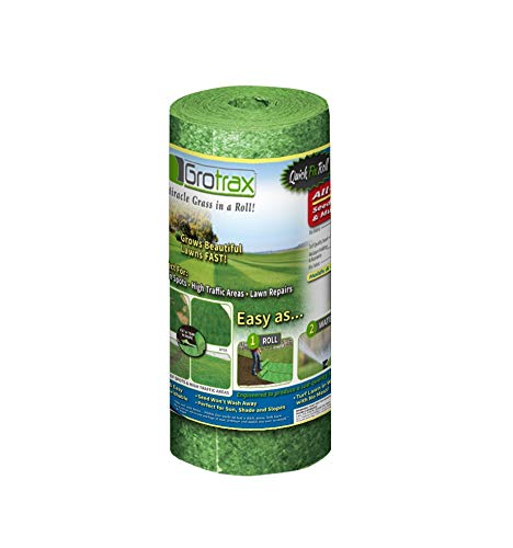 Grotrax Quick Fix Roll - 50 Square Feet Grass Seed Mat by Grotrax