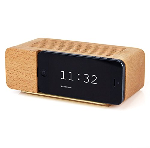 Areaware Decorative Alarm Dock for iPhone 5, Natural Beec...
