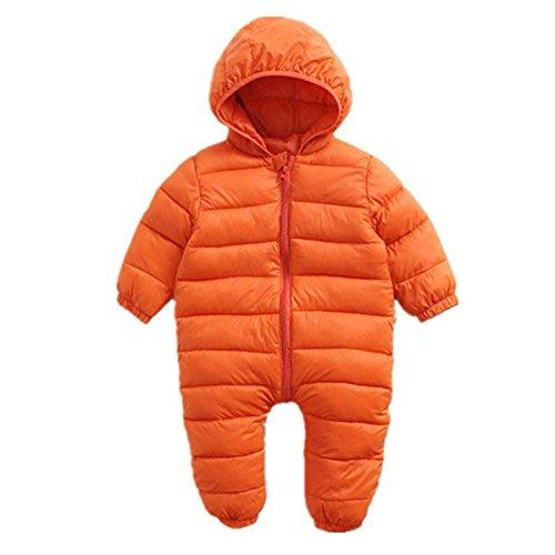 Little Girls Boys One Piece Winter Zipper Puffer Down Pram Suit Jumpsuit Snowsuit Romper 18-24 Months