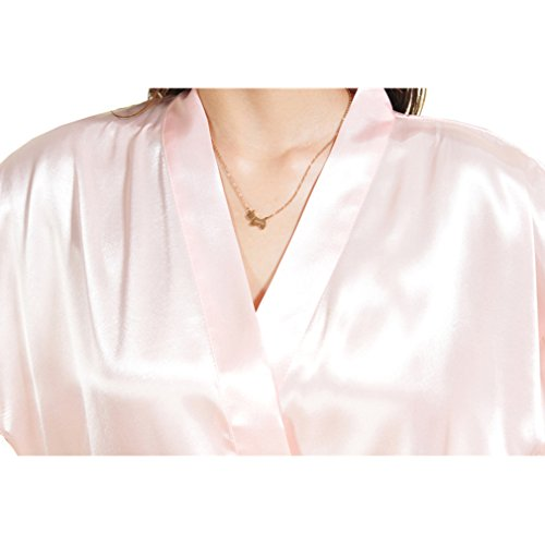 Camicie a da BOYANN Caldo Sposa e Bordò Stampa Kimono Notte Vestaglie e Pigiami BzSwzq