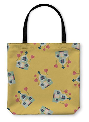 Gear New Shoulder Tote Hand Bag, Wedding Church Flat Iconeps10 Pattern, 13x13, 4409653GN by Gear New